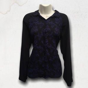 Black & Blue Paisley Button Down Dress Shirt